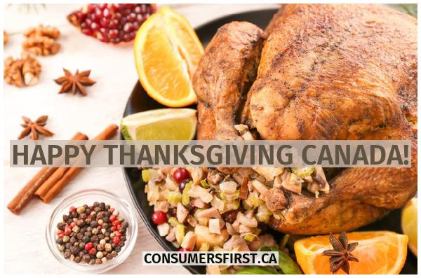 Happy ThanksGiving Canada !